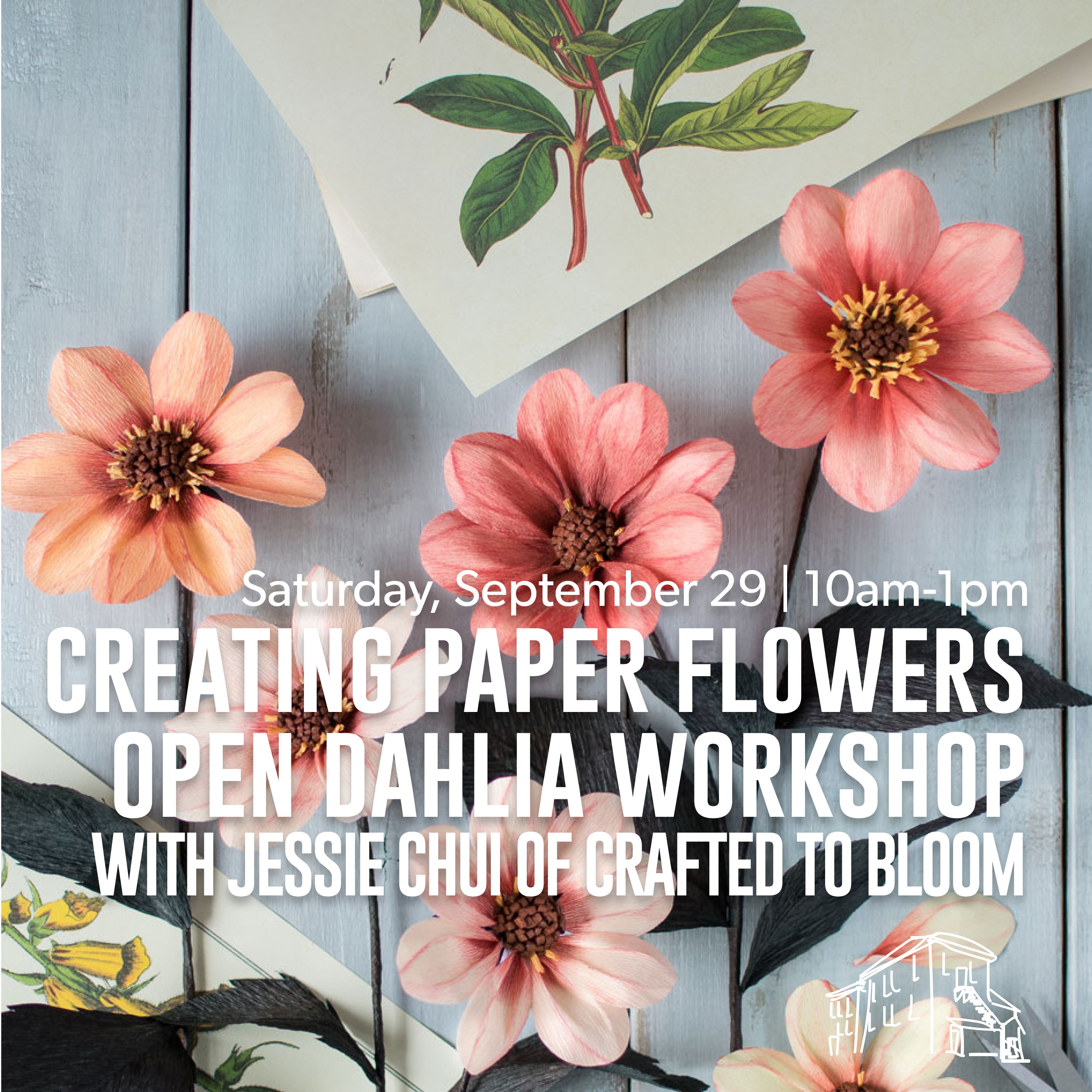 Creating paper flowers open dahlia workshop with jessie chui of creating paper flowers open dahlia workshop with jessie chui of crafted to bloomelora centre for the arts mightylinksfo